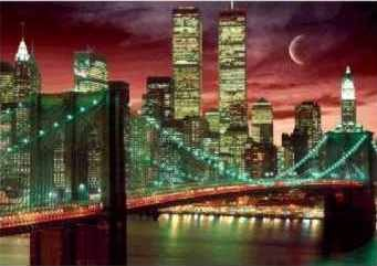 NEW YORK - skyline colour 3D 3D Plakat