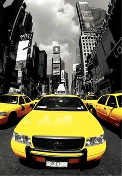 New York - yellow cabs 3D plakat