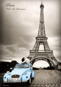 Paris - romance 3D Plakat