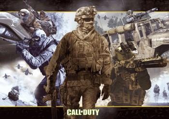 Call of Duty 2 - collage 3D 3D Plakát, 3D Obraz