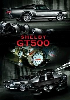 Ford Shelby - mustang gt 500 3D 3D Plakát, 3D Obraz