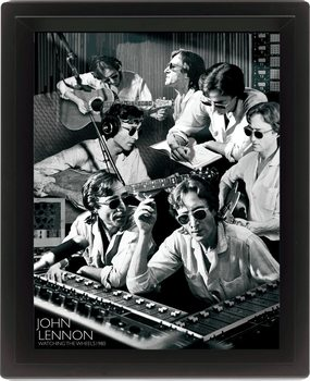 3D Plakát, Obraz s rámem JOHN LENNON - watching