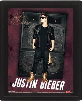3D Plakát, Obraz s rámem JUSTIN BIEBER speakers