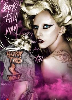 Při pohybu před 3D obrazem Lady Gaga se motiv pohybuje. Iluze vytváří trojrozměrný obraz vystupující ně