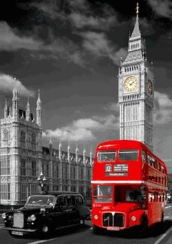 LONDON - big ben 3D Plakát, 3D Obraz