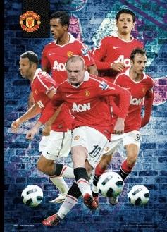 MANCHESTER UNITED - players 2010/2011 3D Plakát, 3D Obraz