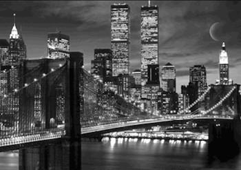 New York - skyline 3D Plakát, 3D Obraz