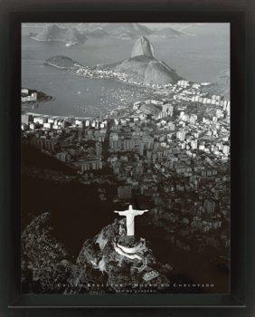 3D plakát s rámem Rio de Janeiro - by Marilyn Bridges