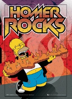 THE SIMPSONS - homer rock  3D plakát