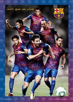 Barcelona - players 2012 3D plakát