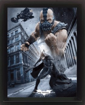BATMAN DARK KNIGHT RISES 3D plakát keretezve