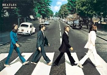 Beatles - abbey road 3D Poszter