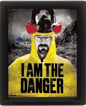Breaking Bad (Totál Szívás) - I am the danger 3D plakát keretezve