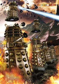 DOCTOR WHO - dalek war  3D plakát