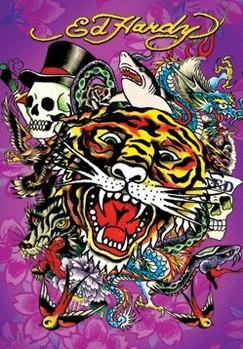 ED HARDY - tiger 3D Poszter