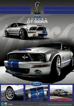 Ford - schelby mustang gt 3D 3D Poszter