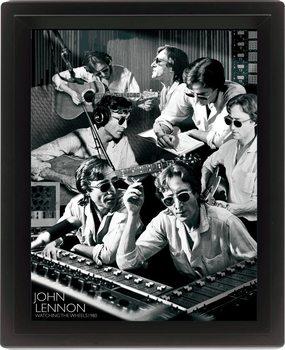 JOHN LENNON - watching 3D plakát keretezve