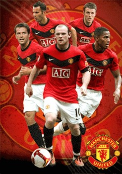 MANCHESTER UNITED - players 09/10 3D Poszter