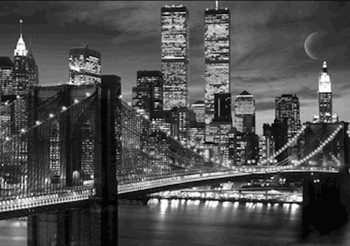 New York - skyline 3D Poszter