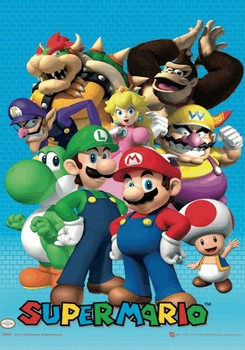 Nintendo - cast 3D plakát