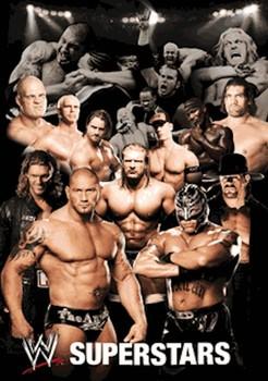 WWE - collage 3D 3D Poszter