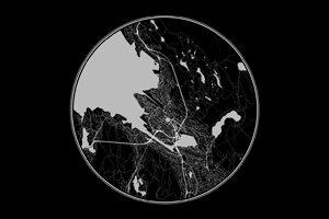 Fekete térképek kör alakban