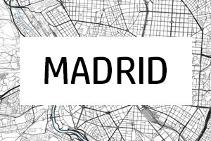 Kart over Madrid
