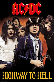 AC/DC - Highway to Hell - плакат (poster)