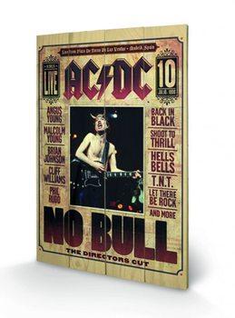 AC/DC - No Bull plakát fatáblán