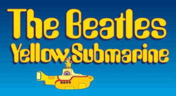 BEATLES - sub logo - adesivi in vinile