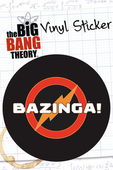 BIG BANG THEORY – bazinga - adesivi in vinile