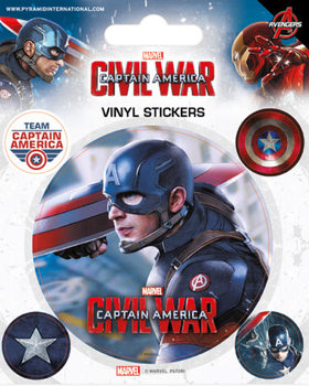 Captain America Civil War - Captain America - adesivi in vinile