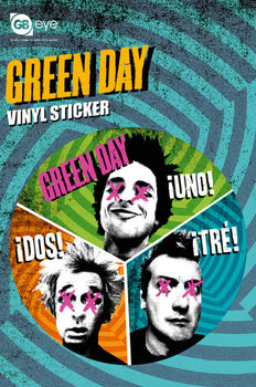 GREEN DAY - trio - adesivi in vinile