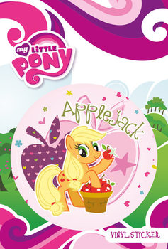 MY LITTLE PONY - applejack - adesivi in vinile