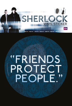 Sherlock - Friends Protect People - adesivi in vinile