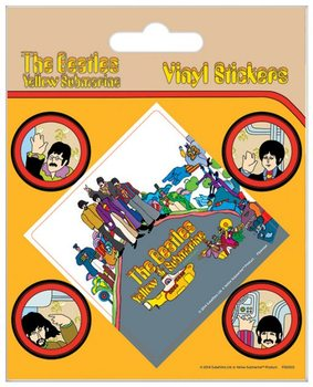 The Beatles - Yellow Submarine - adesivi in vinile