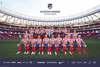Poster Atletico Madrid 2019/2020 - Team