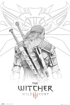Poster The Witcher - Geralt Sketch