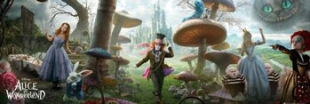 Alice in wonderland - landscape Affiche