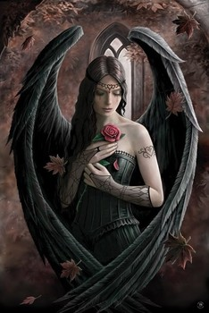 Anne Stokes - angel rose Poster