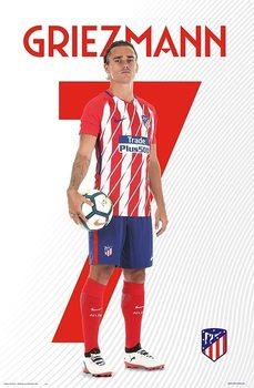 Atletico Madrid 2017/2018 - Griezmann Poster