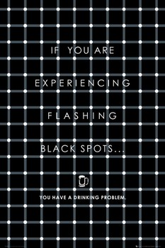 Black flashing dots Poster