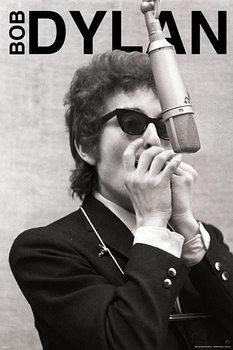 Bob Dylan - harmonica Affiche