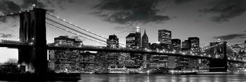Brooklyn bridge - dusk Poster