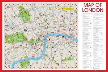 Carte Londres - Carte de Londres Poster