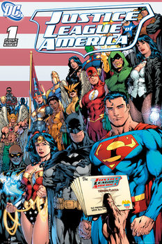 DC COMICS - justice league cover Affiche