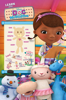 Docteur La Peluche - Learn with Affiche