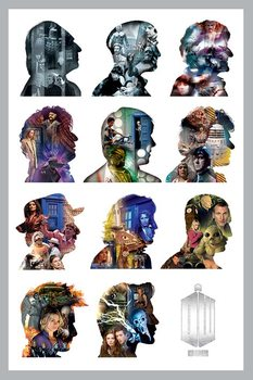 DOCTOR WHO - silhouette Affiche