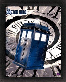 Doctor Who - Tardis Time Spiral Poster en 3D encadré