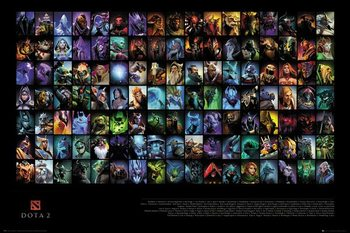 DOTA 2 - Characters Poster